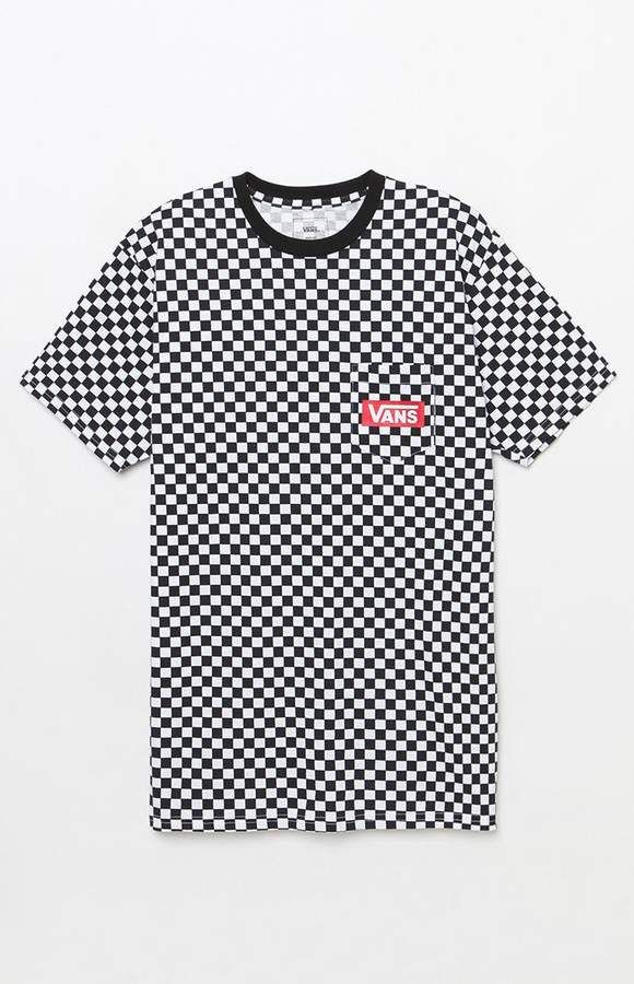 c593217a Vans Checker Print White & Black Pocket T-Shirt | Products | Vans ...