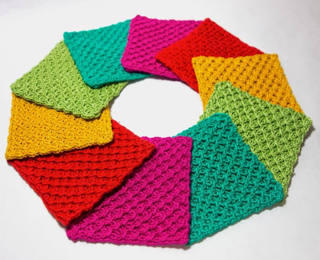 Rainbow coasters knitting patterns rainbows and patterns knitting ideas bankloansurffo Image collections