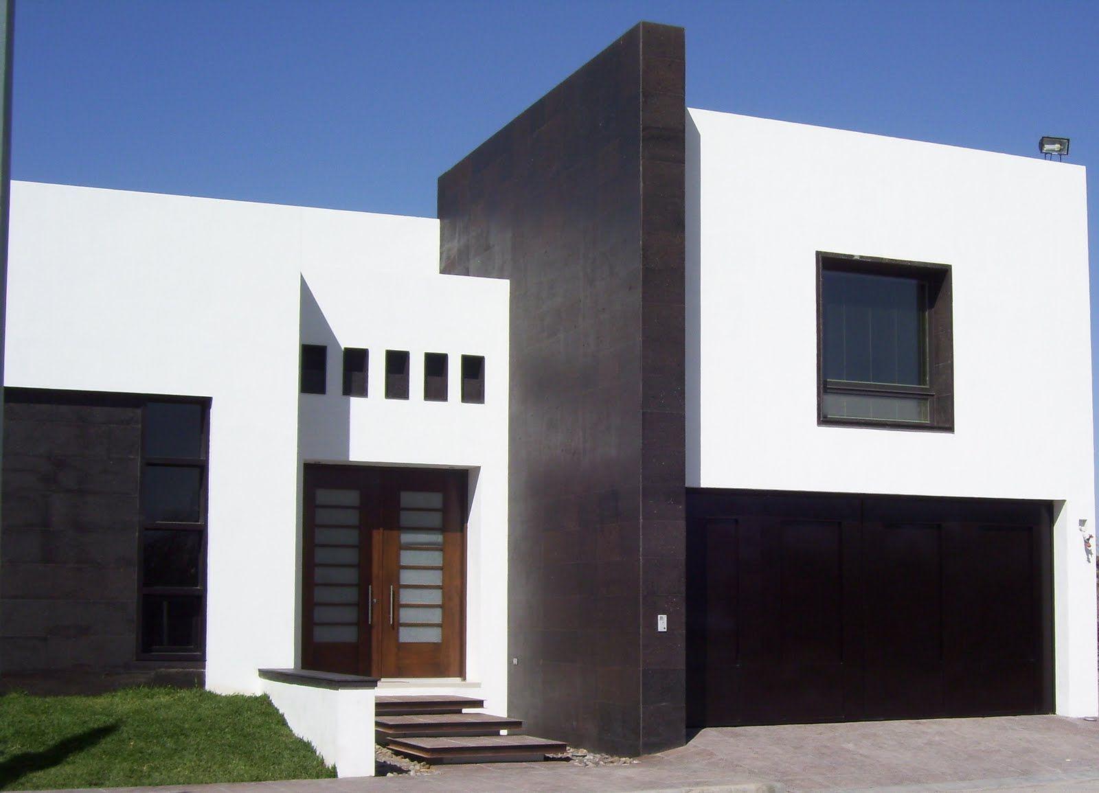 Fachadas de casas minimalistas de dos plantas inspiración de diseño de interiores