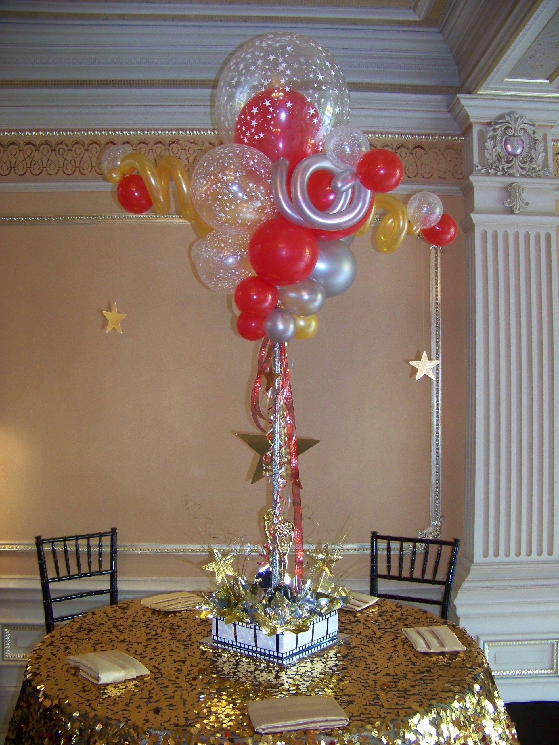 Oscar Centerpieces With Balloons