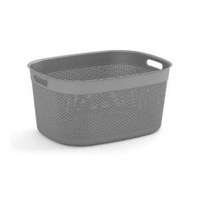 Curver Filo 3 7 Qt Resin Decorative Plastic Storage Basket Fg671152301 The Home Depot