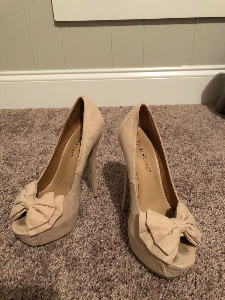 f3fef0ed869 Tan High Heel Just Fab Shoes Size 5.5 #fashion #clothing #shoes ...