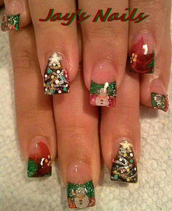 My Christmas Nails By Jays Nails In Lakeland Fl Add Her On Fb Jays