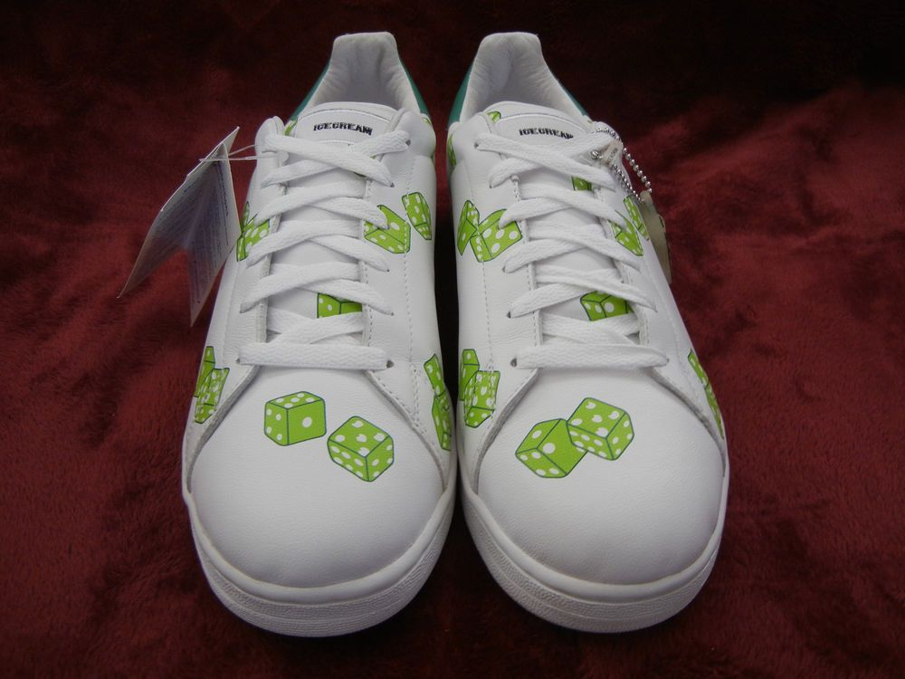 2f697d75f4c4f4 eBay  Sponsored Reebok Ice Cream  BOUTIQUES Green Dice size 10  Pharrell  white shoes  DEADSTOCK