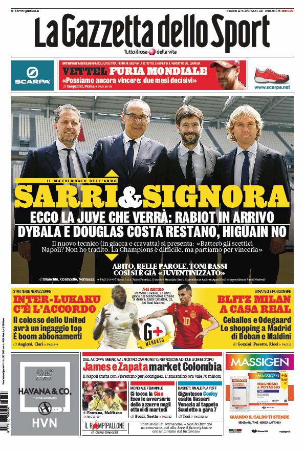 LaGazzettadelloSport on Sport, Venerdì, Notizie
