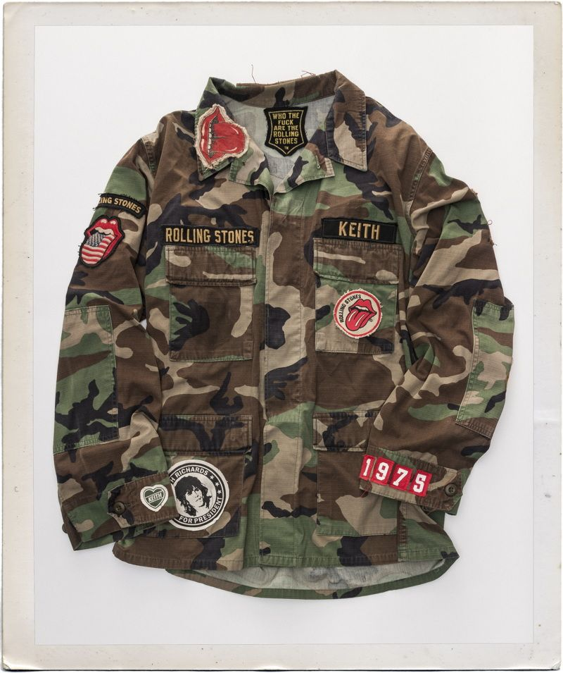 0f42c593290 Rolling Stones Custom Camouflage Military Jacket