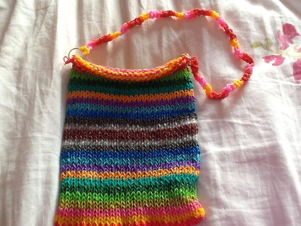 Loom band bag/Ipad case made by me :)