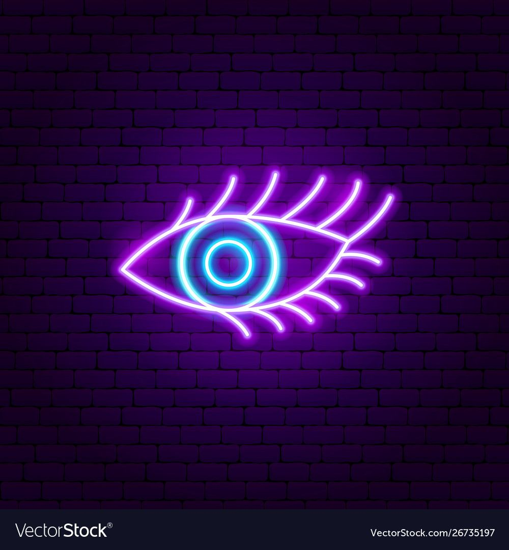 Beauty eye neon sign vector image on Neon signs, Beauty