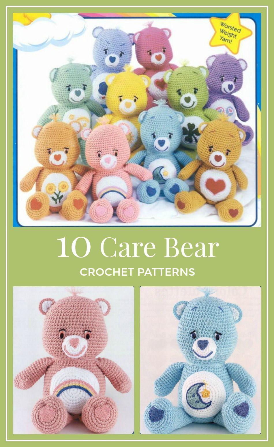 CareBears! Ten (10) Adorable CareBear Crochet Patterns | crochet ...