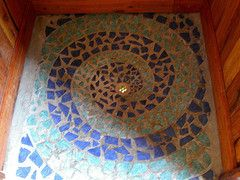 Ceramic Shower Stall Floor I Love The Down Drain Visual