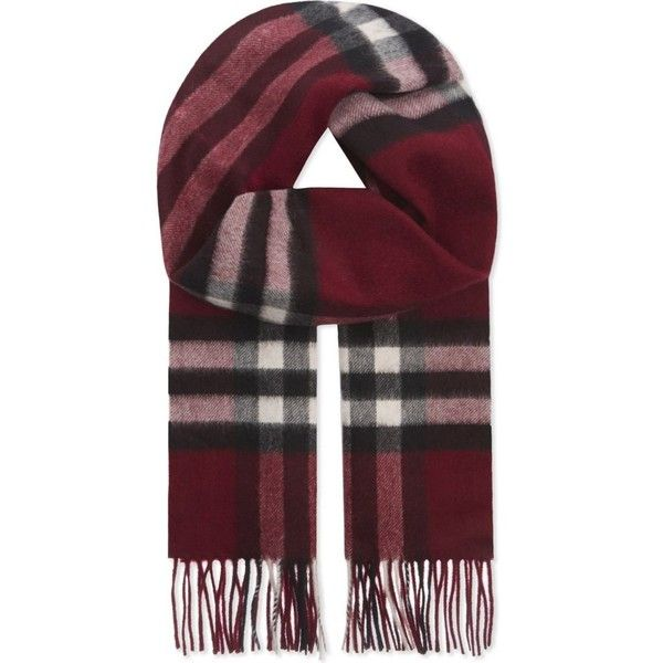 Burberry Giant check cashmere scarf ( 365) ❤ liked on Polyvore featuring  accessories, scarves 2162e69af28