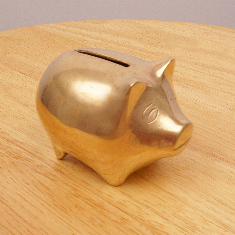 Design Vintage Bank.Small Piggy Bank Savings Bank Pig Design Vintage