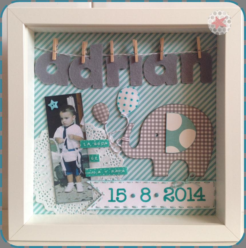 Cuadros infantiles nacimiento personalizados con nombre y fecha de ...