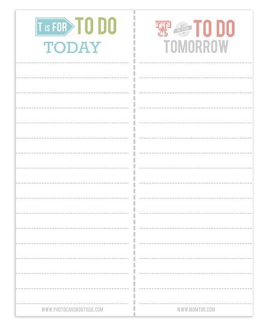 printable to do lists for work
