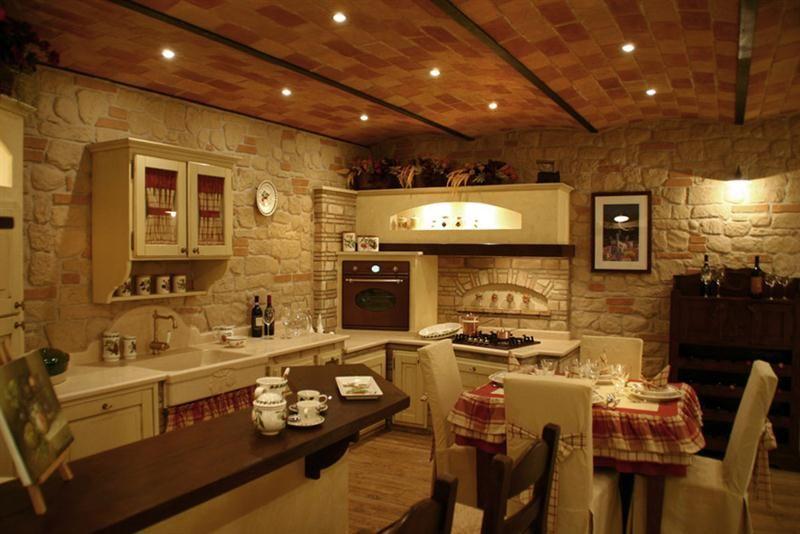 Grifo Caminetti  Le nostre cucine in mattoni pietre