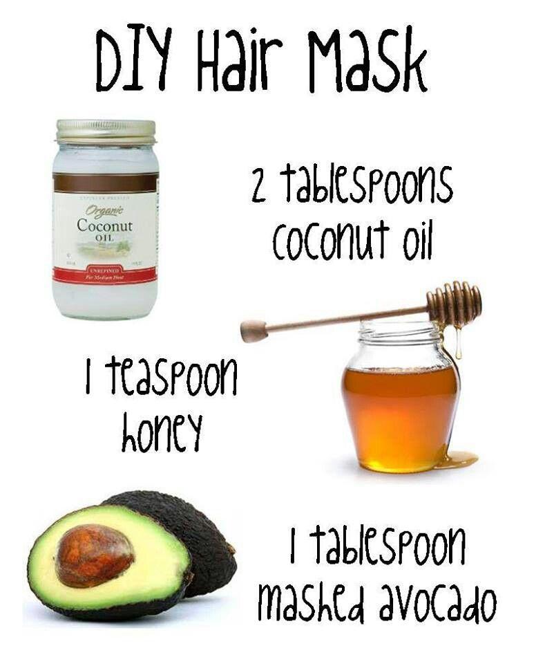 diy hair mask hair nails make up and tats pinterest. Black Bedroom Furniture Sets. Home Design Ideas