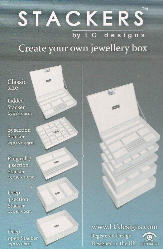 Stackers Jewellery Trays Cream Set - Cream Medium Stackers Jewellery Boxes  Cliftons £66.56 a916119295