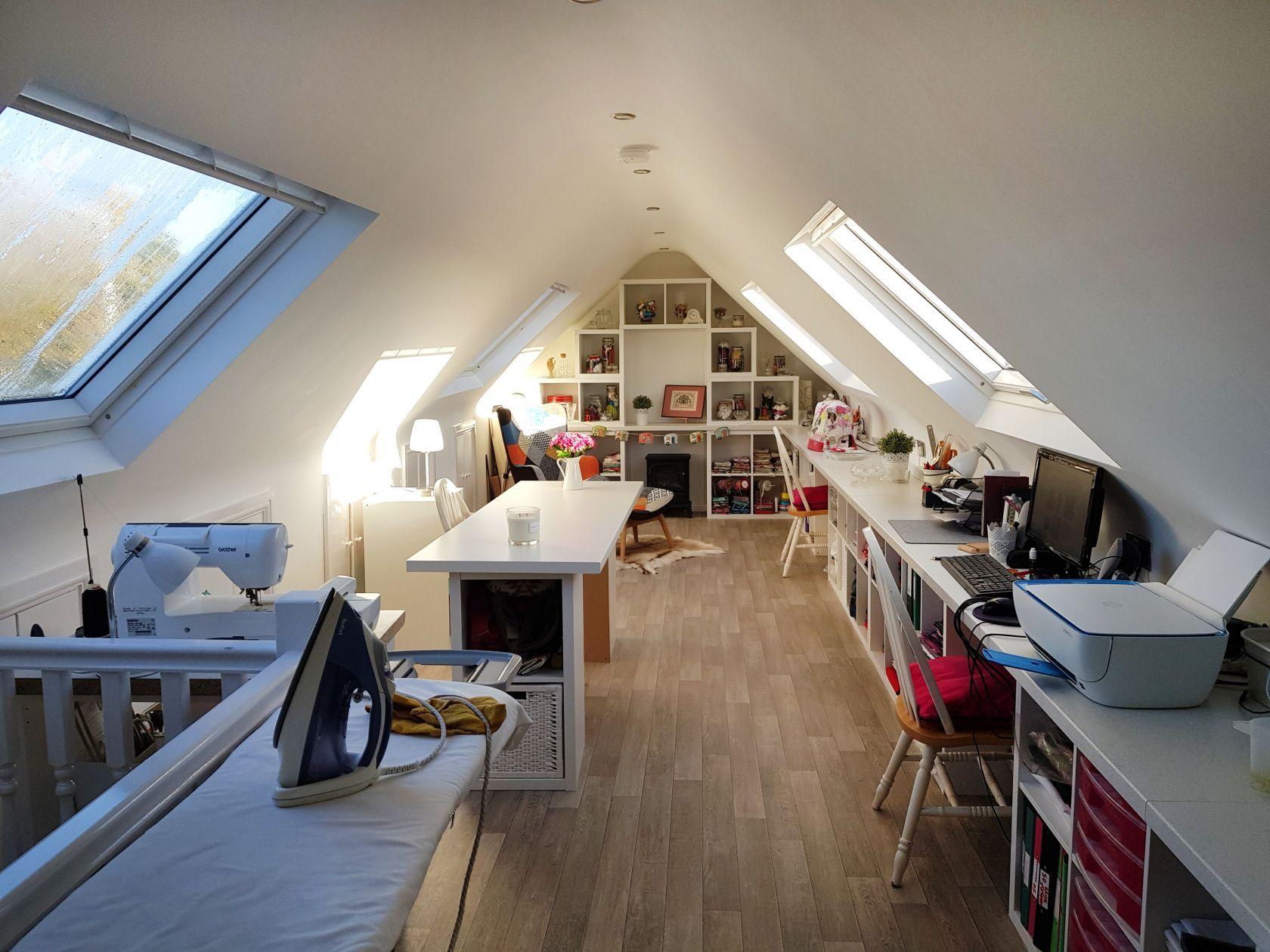 19 Inspiring Attic Storage Slanted Ideas Attic Craft Rooms Loft Room Home