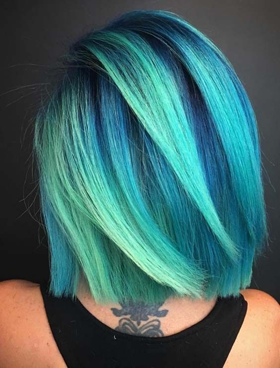 25 Stunning Blue Ombre Hair Color Trends in 2018 - #Blue #Color #Hair #ombre #stunning #Trends #ombrehair