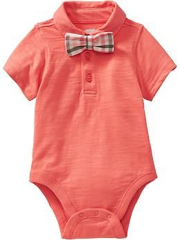 Polo Bodysuits with Bow-Tie for Baby | Old Navy