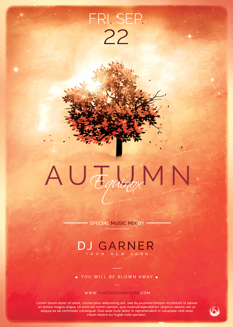 Autumn Equinox Flyer Template V3 | Free posters design for photoshop #autumnalequinox Autumn Equinox Flyer Template V3 #autumnalequinox