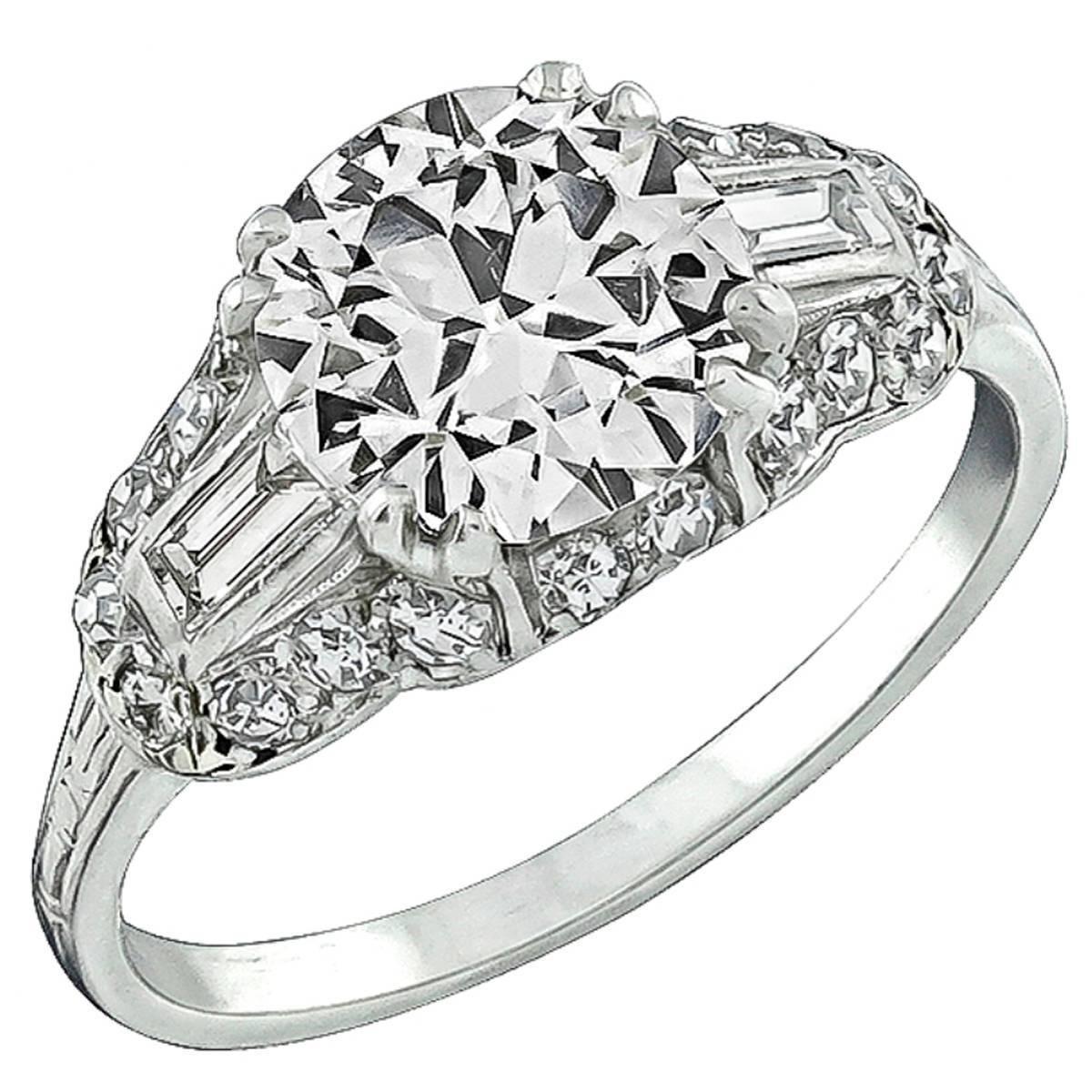 Breathtaking 2.05 Carat GIA Cert Diamond Platinum