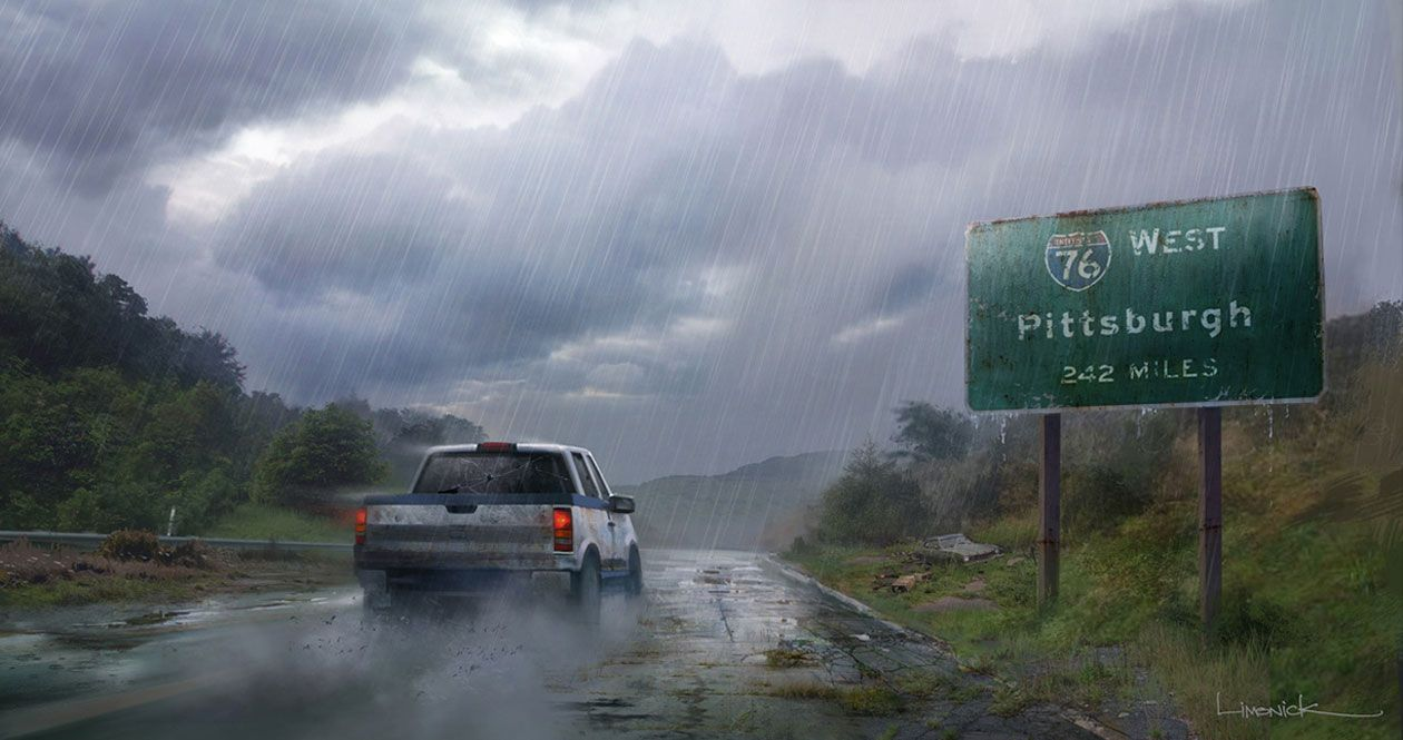The Last Of Us - Artwork - Driving to Pittsburgh