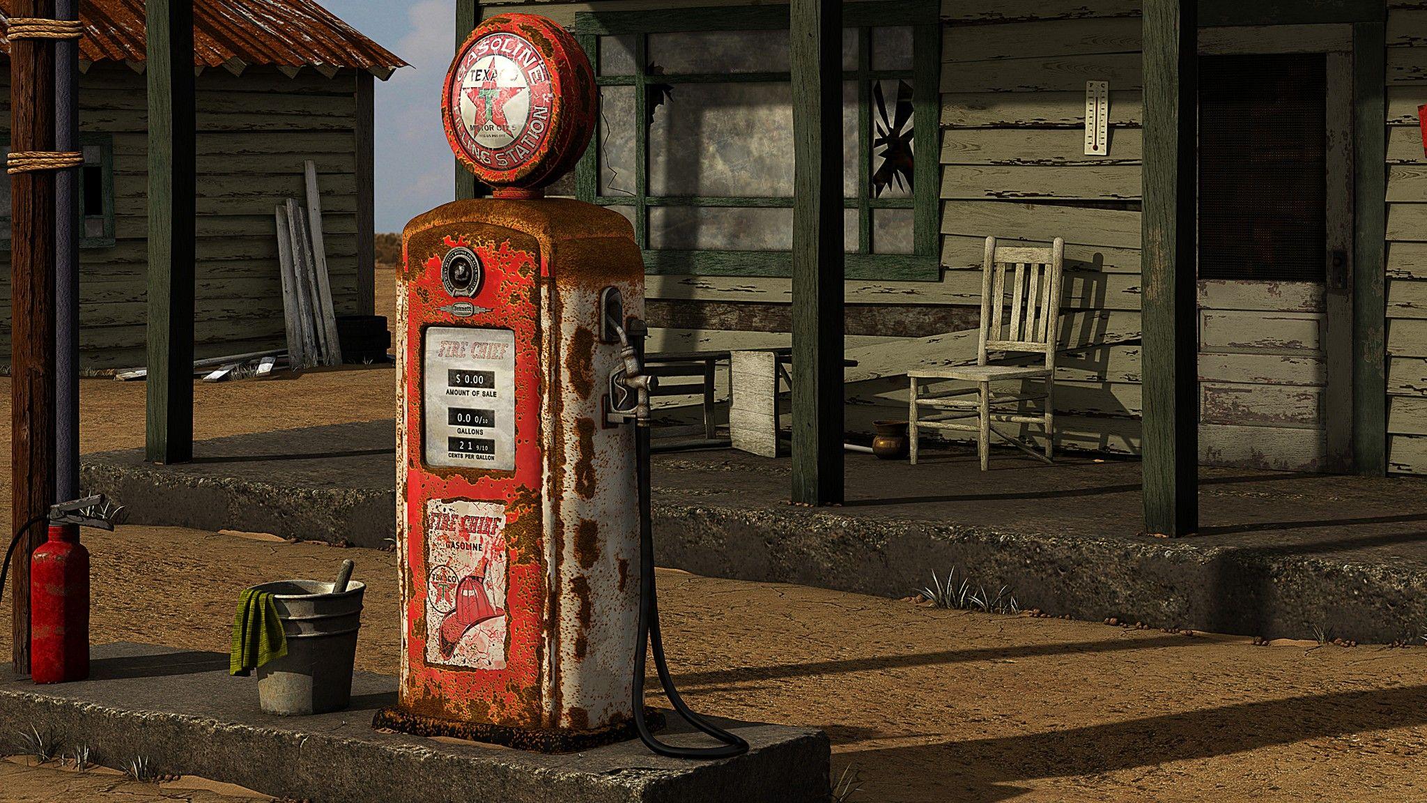Vintage Gas Station Pumps 63