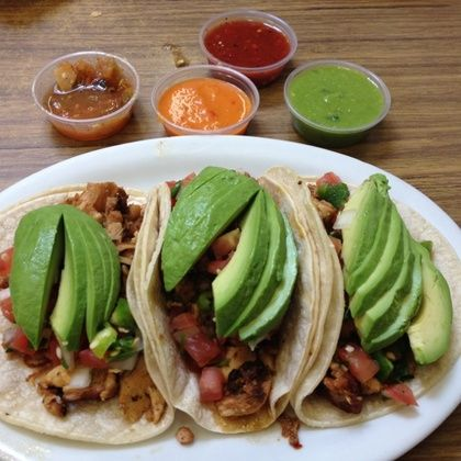 Chicken Tacos @ Pancho Villa Taqueria - Amazing! And reasonably priced...