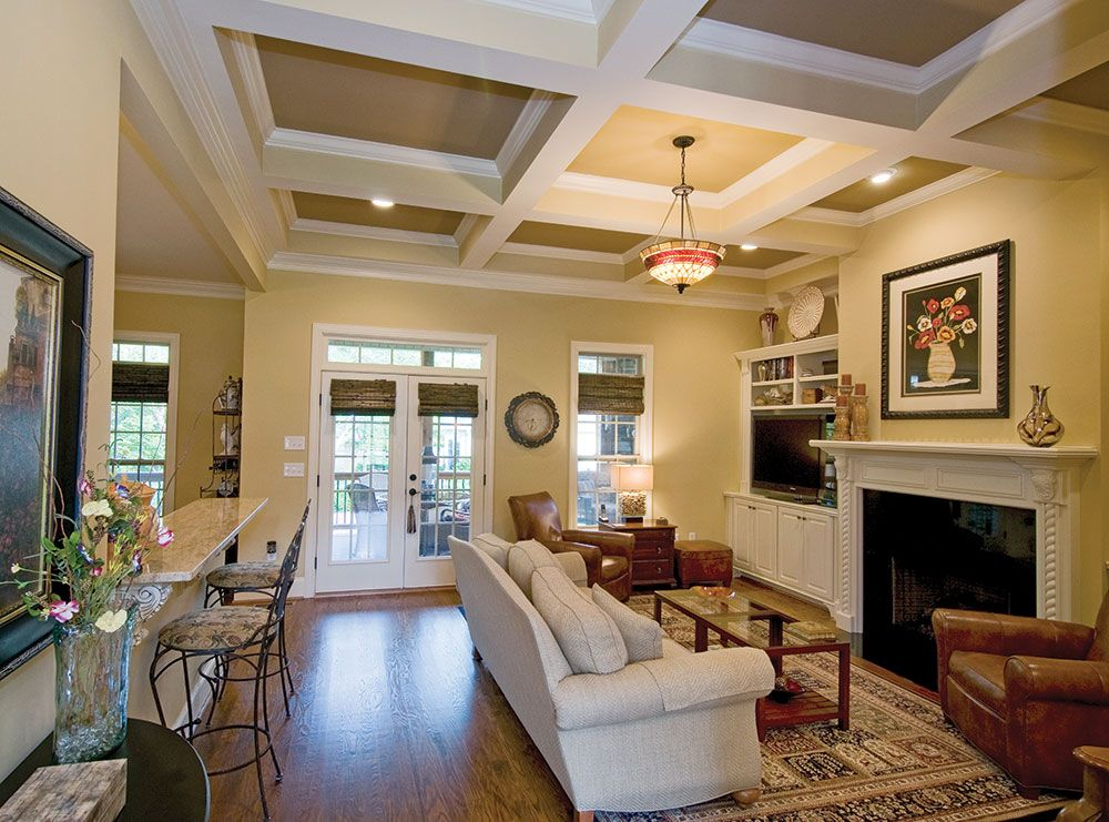 Exceptional Small Great Room Ideas Part - 3: Coffered Ceilings