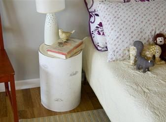 DIY Faux Birch Log Side Table How To   Apartment Therapy
