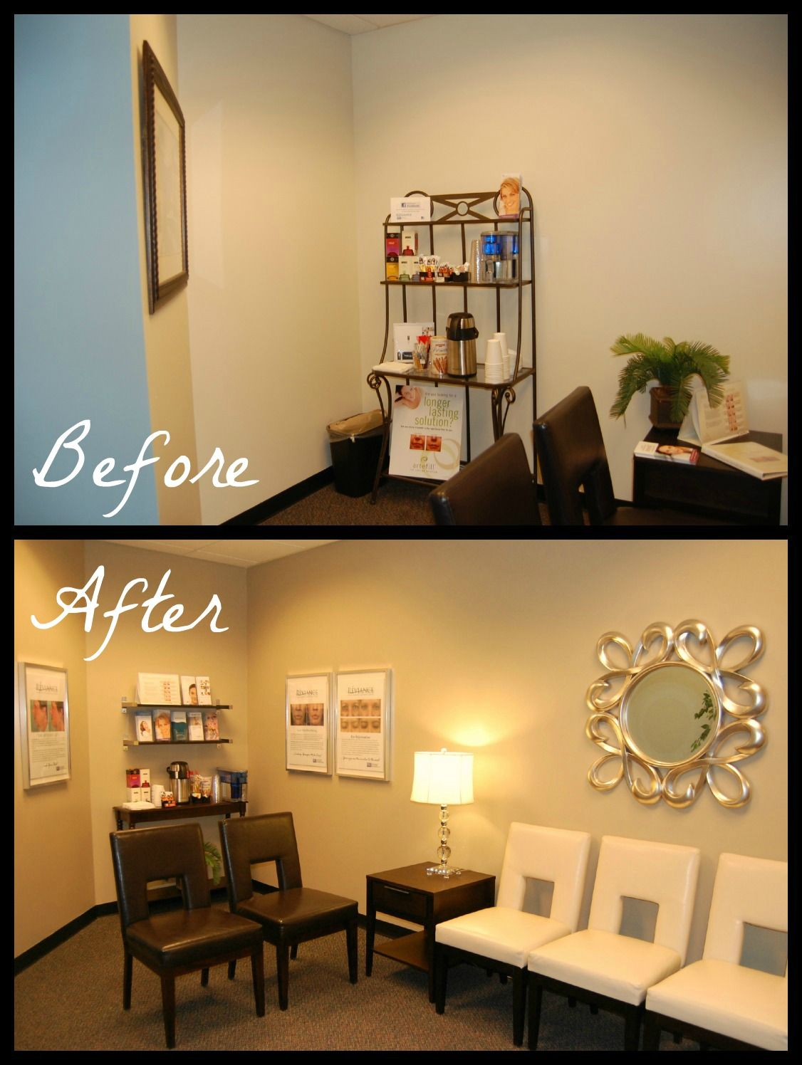 Renewed spaces redesigning a medical office waiting room Office room decoration ideas