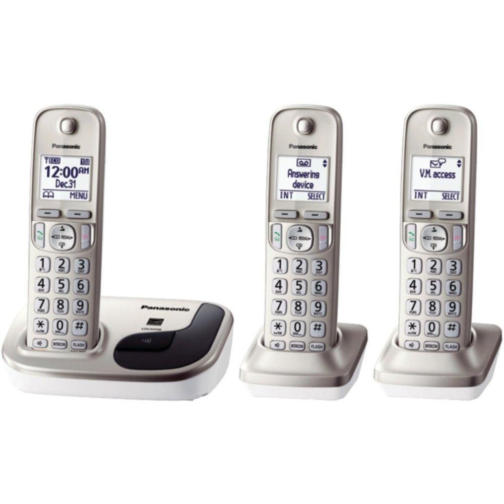 PANASONIC KX-TGD213N DECT 6.0 Plus 3-Handset Expandable Digital Cordless Phone System