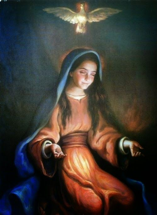 Little Office of the Blessed Virgin Mary: Mary Spouse of The Holy Ghost,  part 2. BY MONSIGNOR JOHN T. MCMAH…   Mother mary images, Jesus mother,  Jesus in the temple