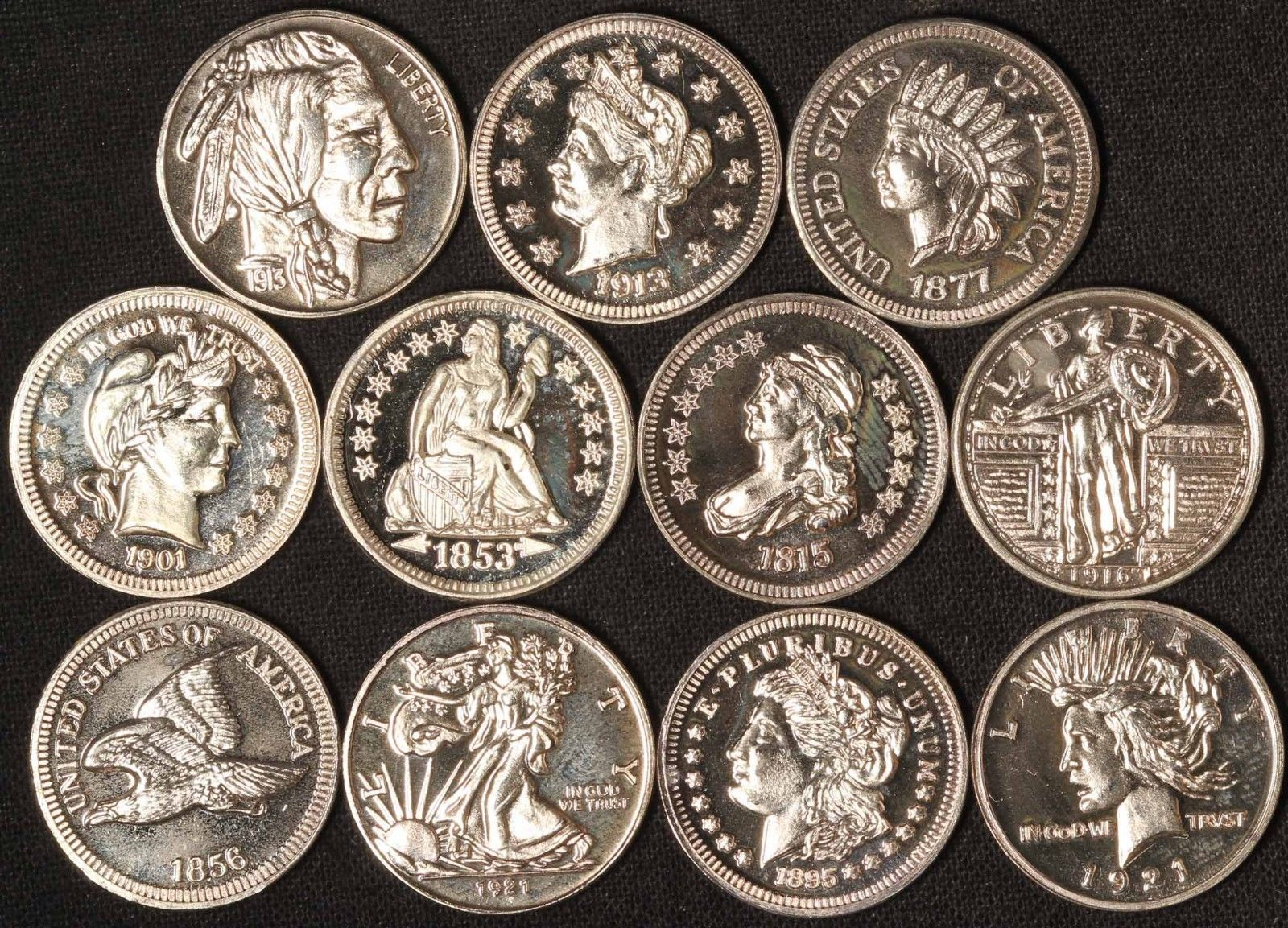 11 Miniature Coins Of The United States 18mm 1 10 Oz Silver Free Ship Usa Shopnetone Miniatures The Unit Coins
