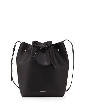 3e31f87f79ce Structured Leather Bucket Bag