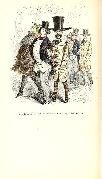 Cent proverbes Nouv. éd. / rev. et augm. pour le texte par M. Quitard. Grandville ; texte par trois têtes dans un bonnet