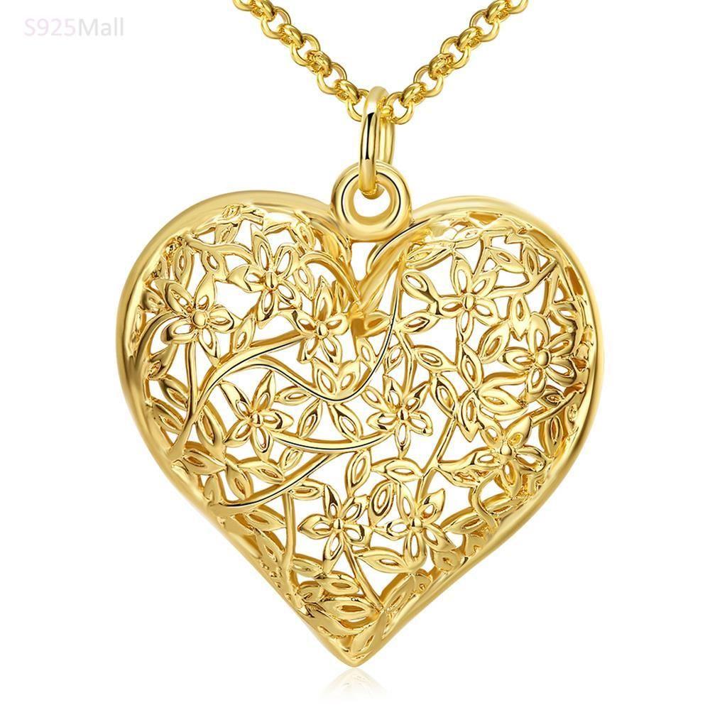 32cm large women wedding love Gold Color pendant necklace gift ...