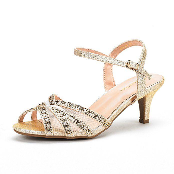9b8cd33f179 DREAM PAIRS Women s Nina-166 Black Low Heel Pump Sandals - 6.5 M US ...