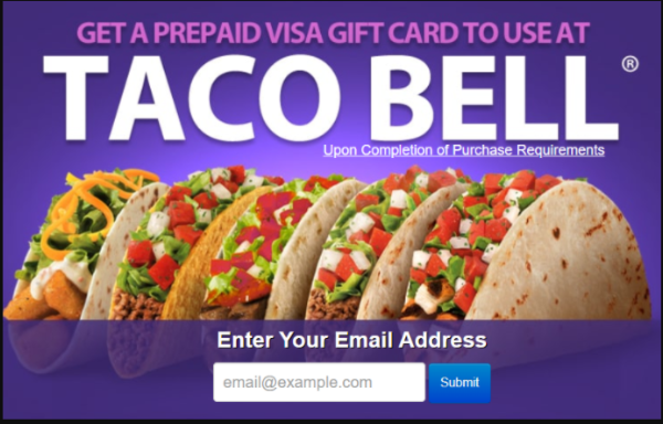 Get A Prepaid Visa Card To Use At Taco Bell Taco Bell Gift Card Taco Bell Free Taco