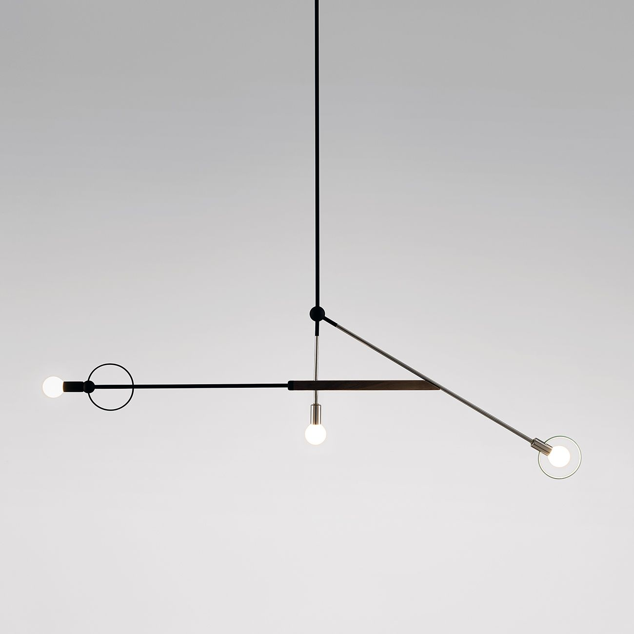 At sight unseen offsite montreal designer jean pascal gauthier will present 10 of his balanced beautiful weightless mobile lights