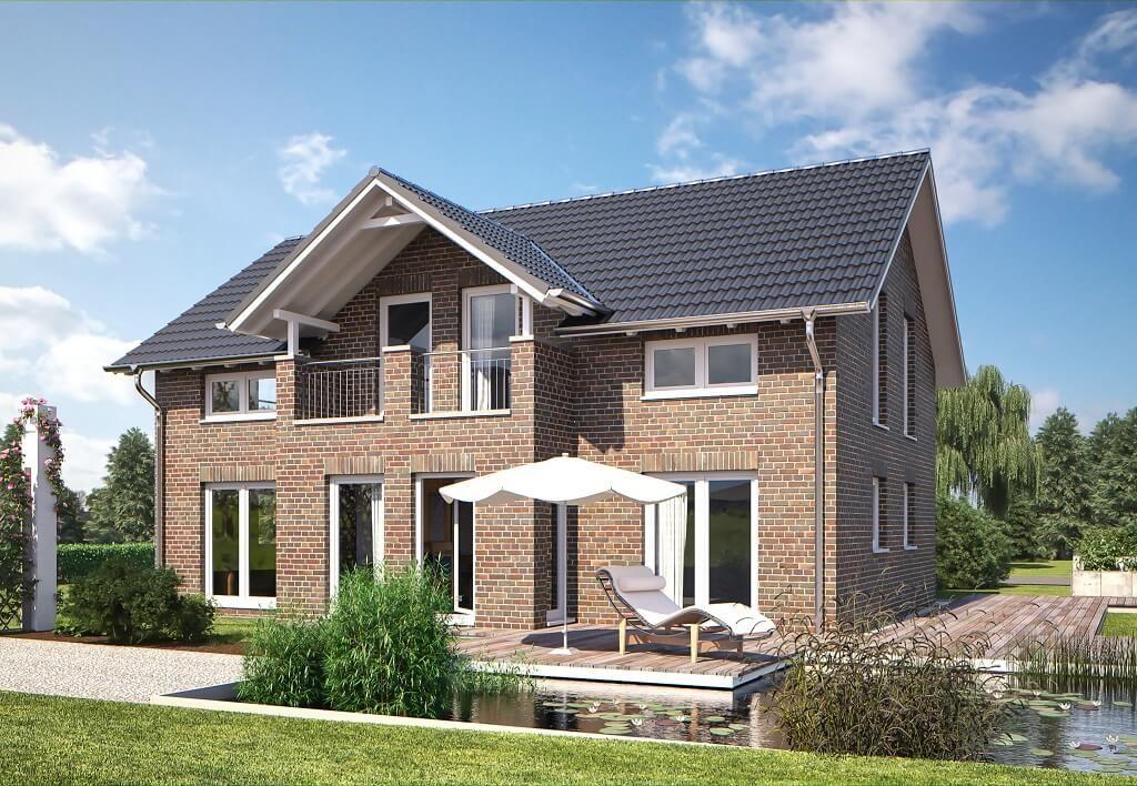 Living 166 Klinker - Hanlo Haus - http://www.hausbaudirekt.de/haus ...