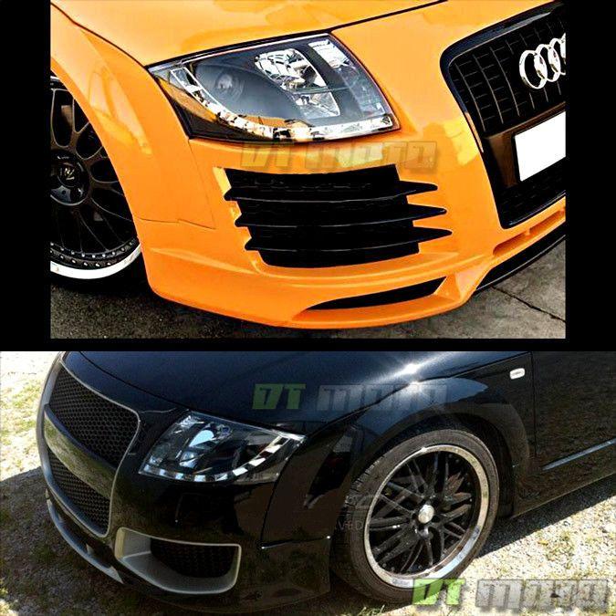 Black 2000-2006 Audi TT Quattro Projector Headlights w/LED Daytime
