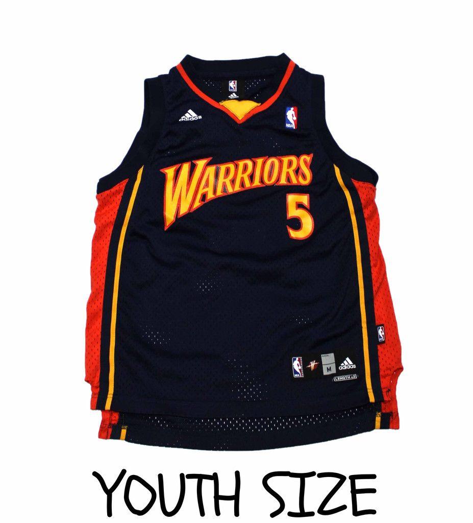 Vintage Golden State Warriors #5 Baron Davis NBA Jersey YOUTH Size ...