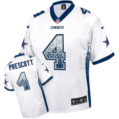 4 Dallas Cowboys Dak Prescott Men s Jersey - White Drift Fashion Nike NFL  Limited Nike1932241 75a3c2d69