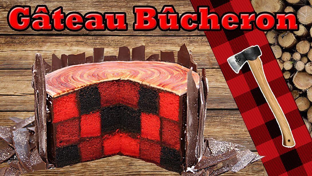 Gâteau damier de bûcheron sur Carl is cooking