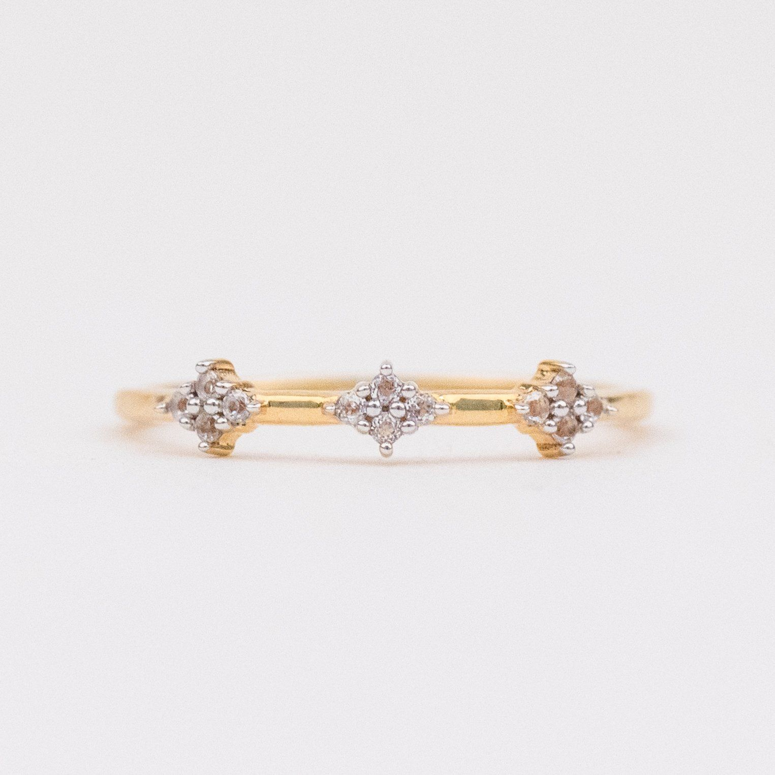 Diamond Cluster Stacking Ring Diamond Stacking Rings Diamond