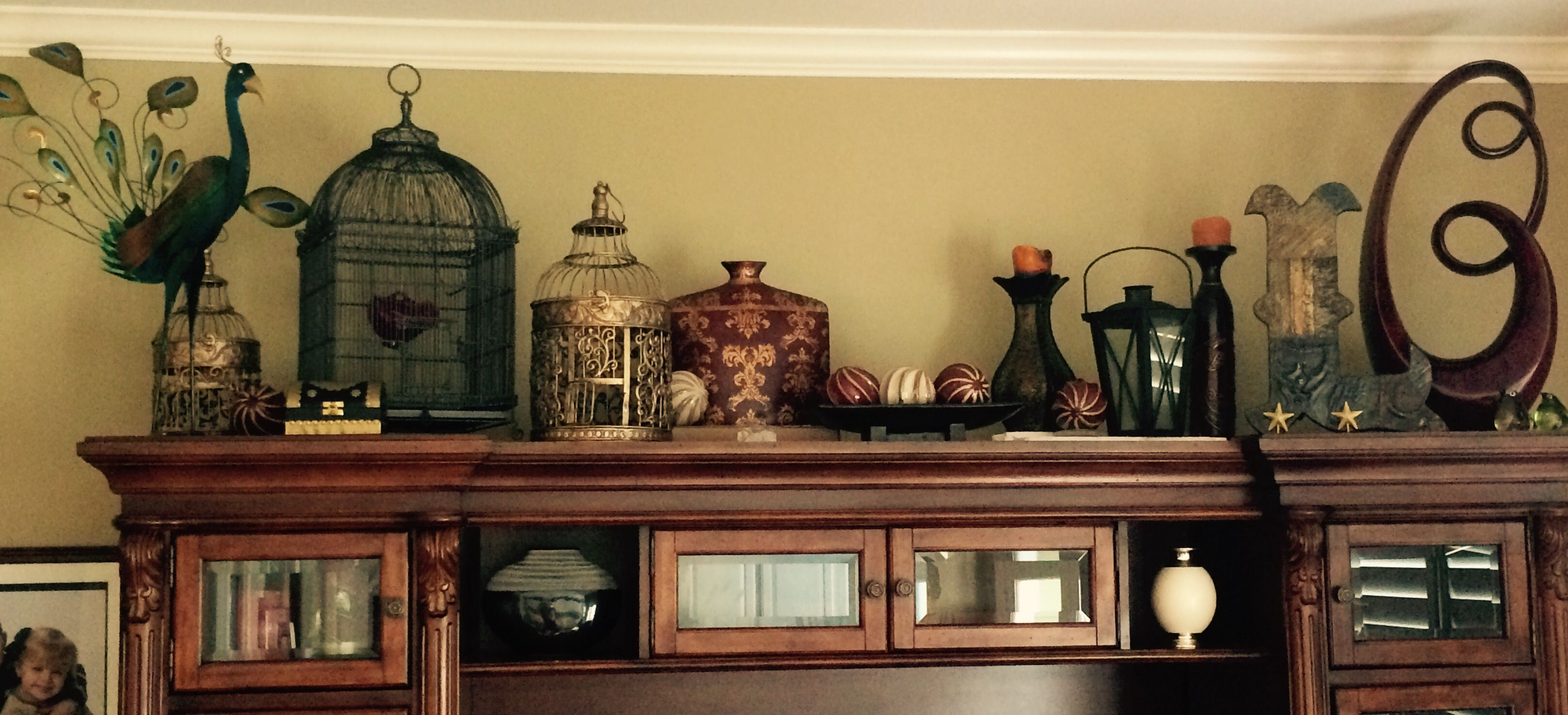 Entertainment Center decorating (With images ...
