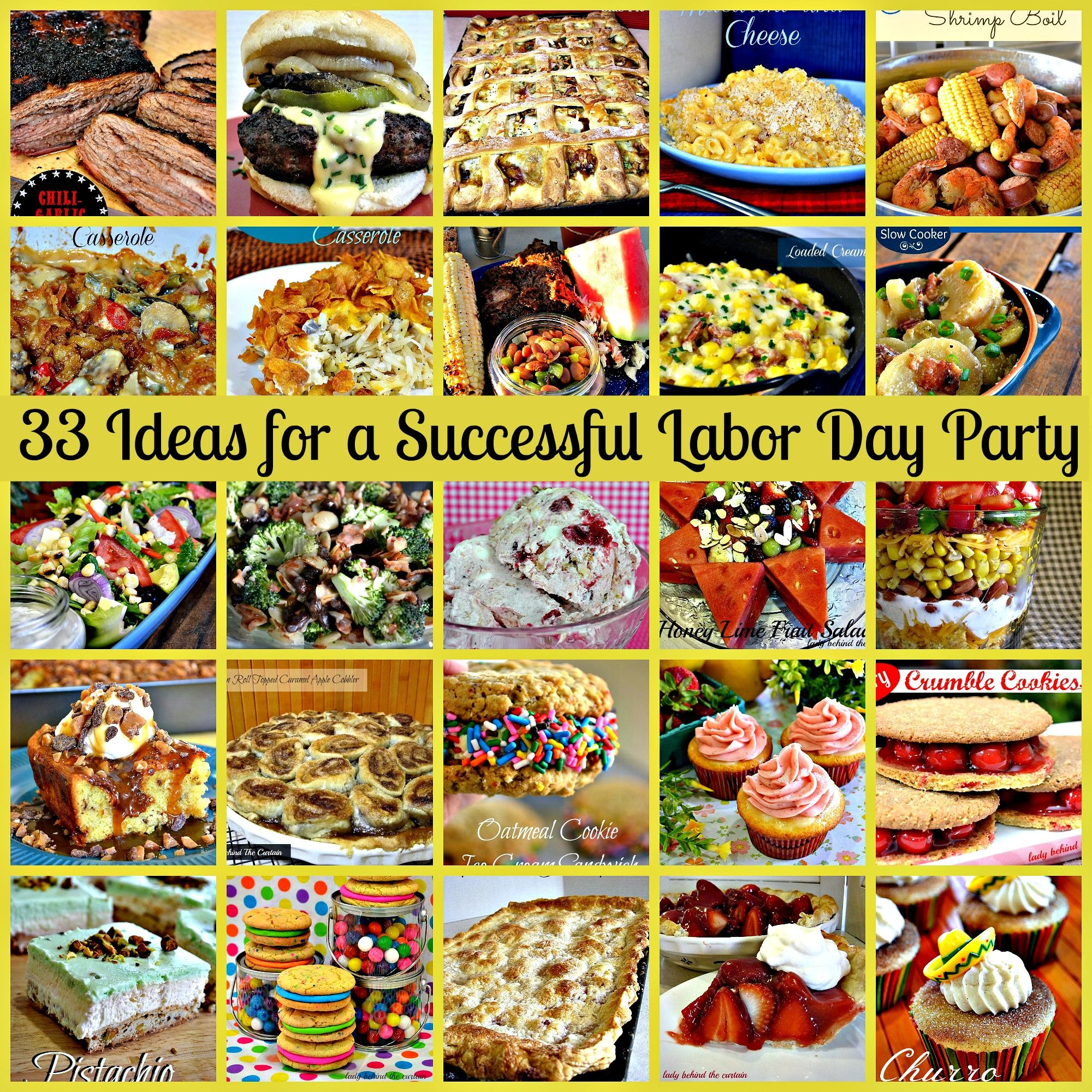 33 ideas for a successful labor day party | roundups from lbc