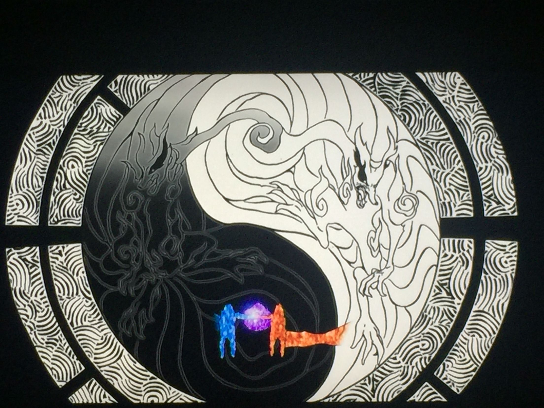 Naruto Kurama Yin & Yang Tat?